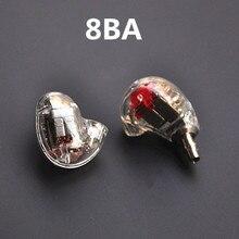 Wooeasy Super ee846 8BA 8 Słuchawek Wyważone Armatura DIY Słuchawki Wysokiej Jakości Słuchawki do Ucha
