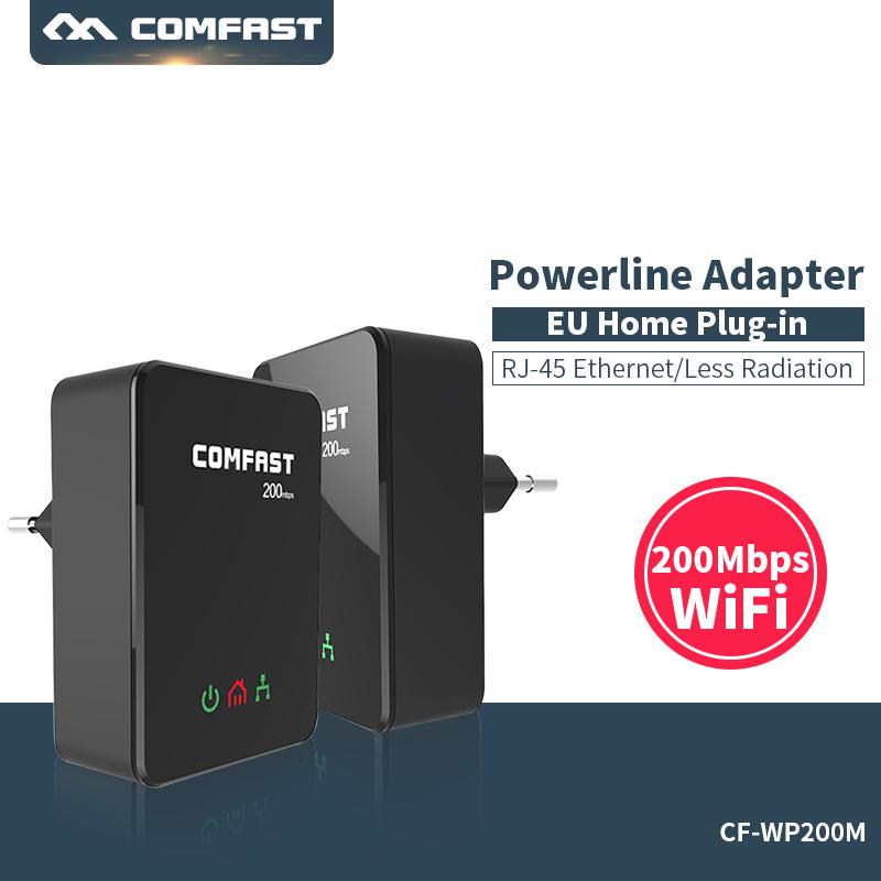 Prix pour Paire! UE accueil plug 200 Mbps mini Plc Modem Ethernet Puissance ligne réseau gigabit Wifi extender ac adaptateurs pont Powerline kit
