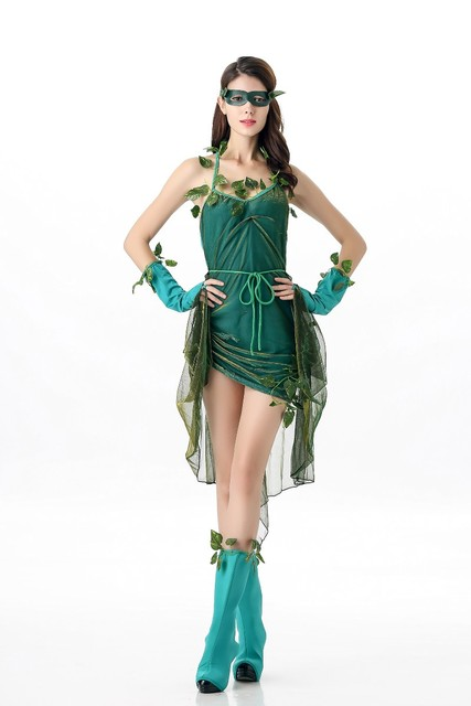 Halloween Leaves Costumes Adult Women The Wizard of Oz Green Forest Fairy Costume Garden Fairy Cosplay  sc 1 st  AliExpress.com & Halloween Leaves Costumes Adult Women The Wizard of Oz Green Forest ...