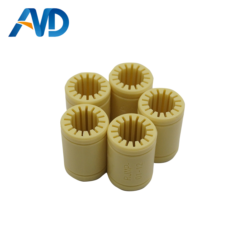 5pcs 3D Printer Solid Polymer LM12UU Bearing - 12mm Shaft RJMP-01-12 R Solid Plastic Bearing 12 Mm ID