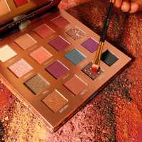 O.TWO.O New Eyeshadow Palette 16 Colors Classic Eyeshadow Waterproof Long Lasting Glitter Powder Matte Pigment Cosmetics