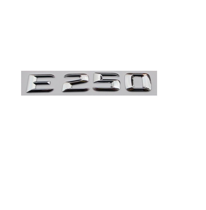 Chrome quot E 250 quot CarTrunk Rear Letters Words Number Badge Emblem Emblems Decal Sticker for Mercedes Benz E Class E250 in Emblems from Automobiles amp Motorcycles
