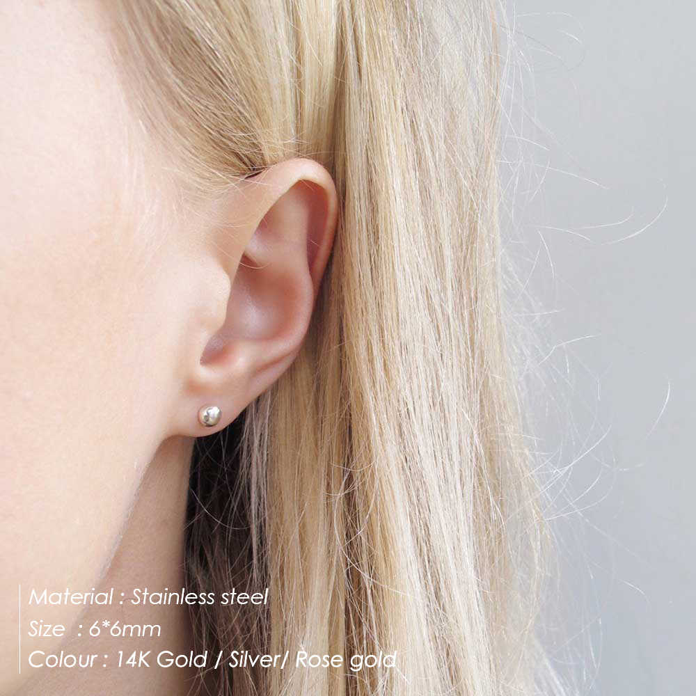 CC Stainless Steel Stud Earring For Women Geometric Shape Earrings Gifts for Party Best Friend Accessories Wholesale CDER003
