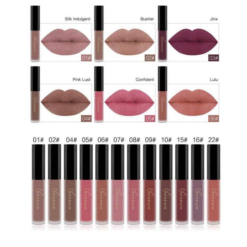 F 26 Cores Lipgloss Veludo Batom Matte Batom Cosméticos de Longa Duração À Prova D' Água Fosco Tonalidade Lip Gloss Maquiagem Beleza