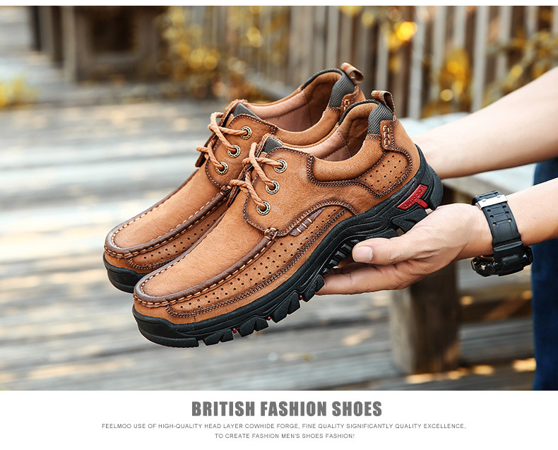 HTB1KXDgPrrpK1RjSZTEq6AWAVXaH New High Quality Men's shoes 100% Genuine Leather Casual Shoes Waterproof Work Shoes Cow Leather Loafers Plus Size 38-48