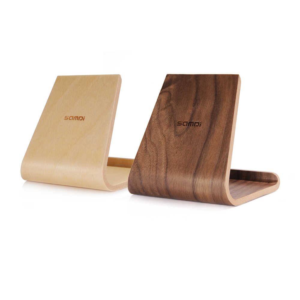 SAMDI Portable Birch Wooden Phone Tablet Stand Holder Dock Station Cradle for iPhone10 8 7 Plus iPad mini 4 Air Samsung S8 edge