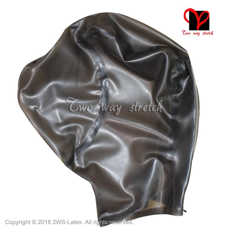 Brand New Black Latex Rubber reniflard Hood Mask Taille unique