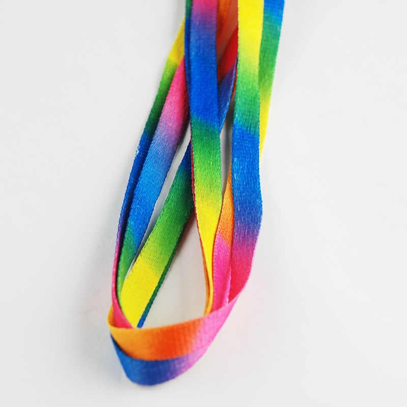 2018 ใหม่สีสัน shoesLaces Laces ผู้ผลิตขายอินเทรนด์แฟชั่นริบบิ้นที่สวยงาม shosLace 100 เซนติเมตร