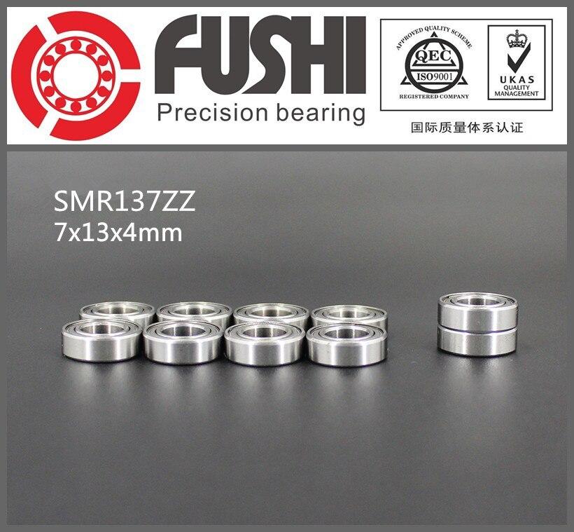 SMR137ZZ Bearing 7*13*4 mm ( 10PCS ) ABEC-1 Stainless Steel Ball Bearings Shielded SMR137Z SMR137 Z ZZ smr62zz abec 1 10pcs 2x6x2 5mm stainless steel miniature ball bearings smr62zz
