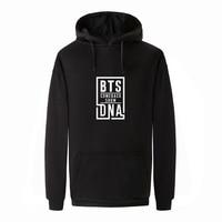 BTS Hoodies Men Kpop BTS Bangtan Boys Sweatshirt Womens And Men Fleece BTS DNA Hooded Winter