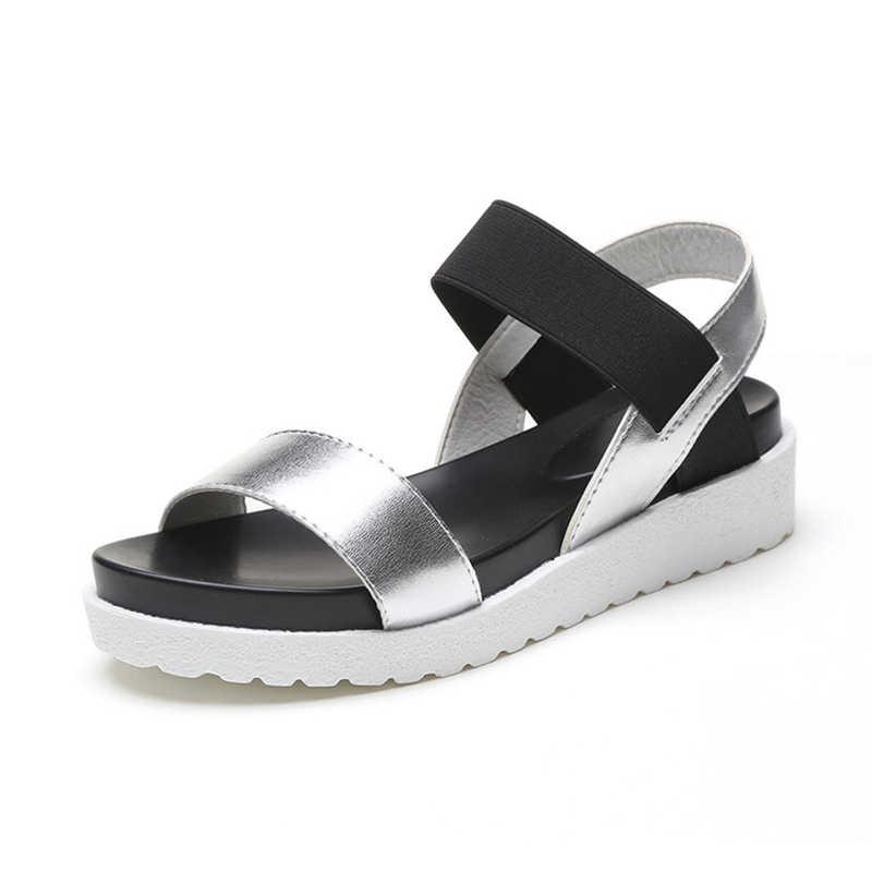 5c52c023f Обувь, летние стильные сандалии, женские сандалии с открытым носком,  сандалии на плоской подошве