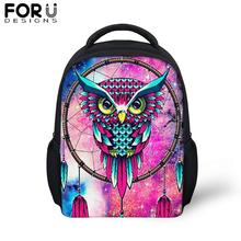 FORUDESIGS Colorful Printing Small School Bags For Baby Girsl Boy Cartoon Backpack Children Kindergarten Schoolbag Kids Mochila