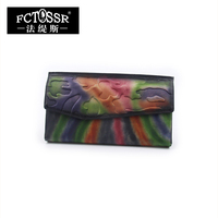 Women S Wallet Genuine Leather Multiple Card Holder Purse Pocket 2018 New Arrival Mix Colors Long
