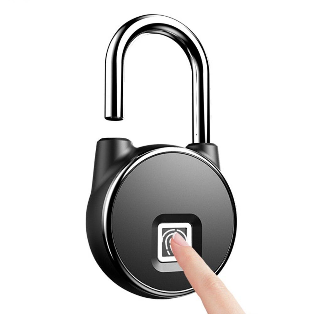 Anti-vol Portable Mini sac à dos étanche bagages en plein air cadenas intelligent USB Rechargeable voyage sécurité serrure d'empreintes digitales