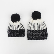Winter Warm hats, Mom and me Pom Pom Hats, Knit winter hat gift for Mommy