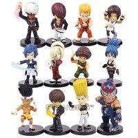 The King Of Fighters KOF Leona Heidern Yuri K Raiden Kyo Ash Elisabeth Joe Higashi Benimaru Nikaido Sie Kensou PVC Figures Toys