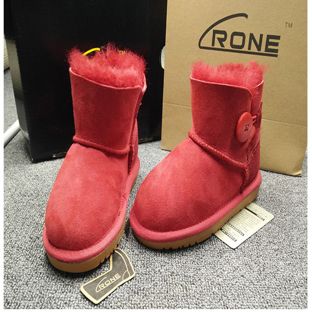 86ced8f0d9c 2018 Winter Merk 100% schapenvacht laarzen meisjes schoenen kind echte wol  snowboots kinderen schoenen mode
