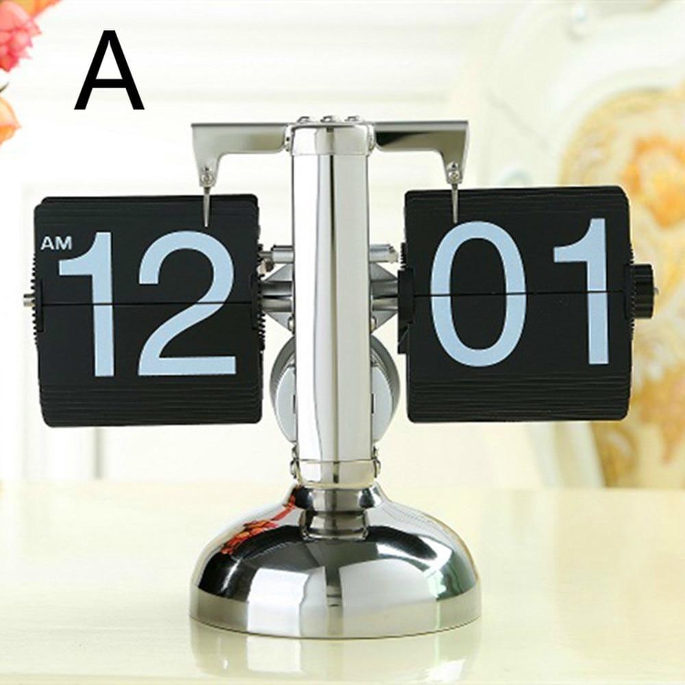 1 шт. Небольшой баланс и двуногий page поворотный прикроватный столик настольные часы классические часы металлический МАЯТНИК Часы LU727190