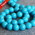 2015 For Necklace&Bracelet 8-14mm Sky Blue Shell pearl Seashell DIY gift for women loose Jewelry making design 15inch Wholesale