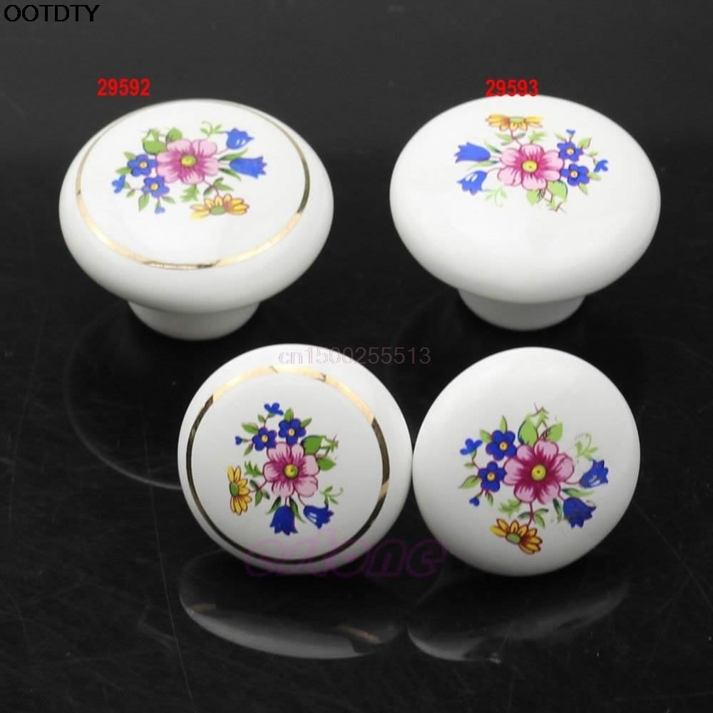 Blue Enamelware Style Ceramic Cabinet Knob Pull  Lot 12