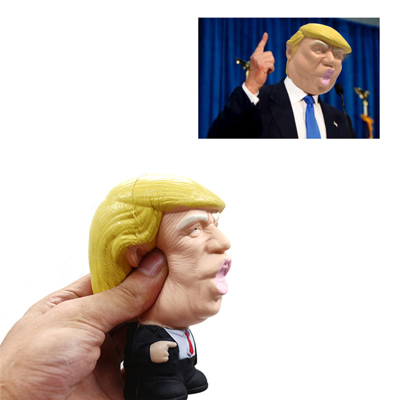 <font><b>Kids</b></font> Doll Decor Squeeze Fun Joke Props Novelty Donald Trump Squeeze <font><b>Toy</b></font> Jumbo <font><b>Toy</b></font> Anti Stress Ball <font><b>Cool</b></font> Reliever Gift image