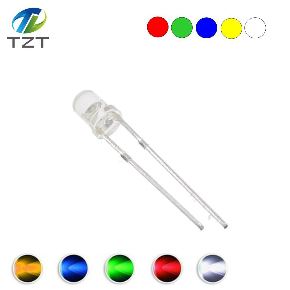 COLOUR: RED WATER CLEAR 3V 25X 5mm SUPER BRIGHT LEDs DIODES FREE POST