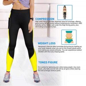 Image 2 - 女性サウナパンツネオプレンレギンス制御パンティーフィットネスウエストトレーナーボディシェイパー痩身スーパーストレッチカプリパンツズボンパンツ
