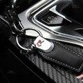 Hebilla de cuero de la cadena dominante del coche del cuero genuino llavero llavero para mujeres masculinas de regalo