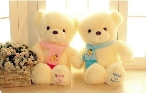 45cm Birthday Valentines Gift Scarf Plush Baby Toy Bear Brinquedos High Quality Large Teddy Bear Doll 2 Colors Drop Shipping plush 1pc 40cm watermelon strawberry bear warm rest office cushion blanket high quality stuffed toy romantic gift for baby