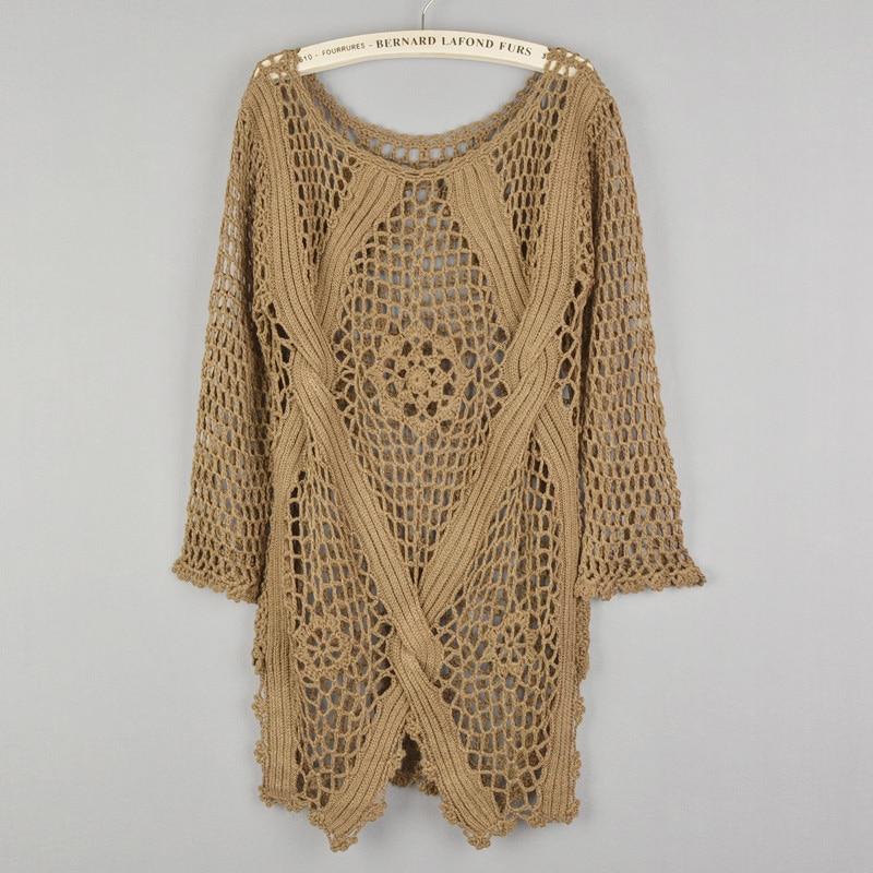 Új divat tavasz Őszi új divat Kézi hollowout kötött pulóver - Női ruházat - Fénykép 3