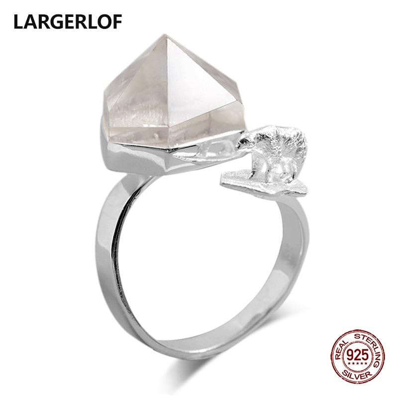 LARGERLOF 925 Silver Ring Labradorite Ring Silver 925 Women Fine Jewelry Silver 925 Jewelry Vintage Ring Sterling Silver RG50162 кольцо oem r111 925 925 amwajeda dymampta ring