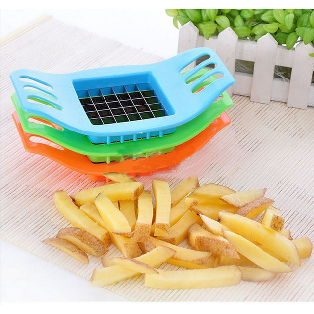 New PVC + Stainless Steel French Fry Fries Cutter Peeler Potato Chip Vegetable Slicer Cooking Tools Kitchen supplier Hot Sale