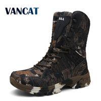 Новые водонепроницаемые мужские тактические военные ботинки дезерты походные камуфляжные высокие мужские ботинки для пустыни модная Рабо...