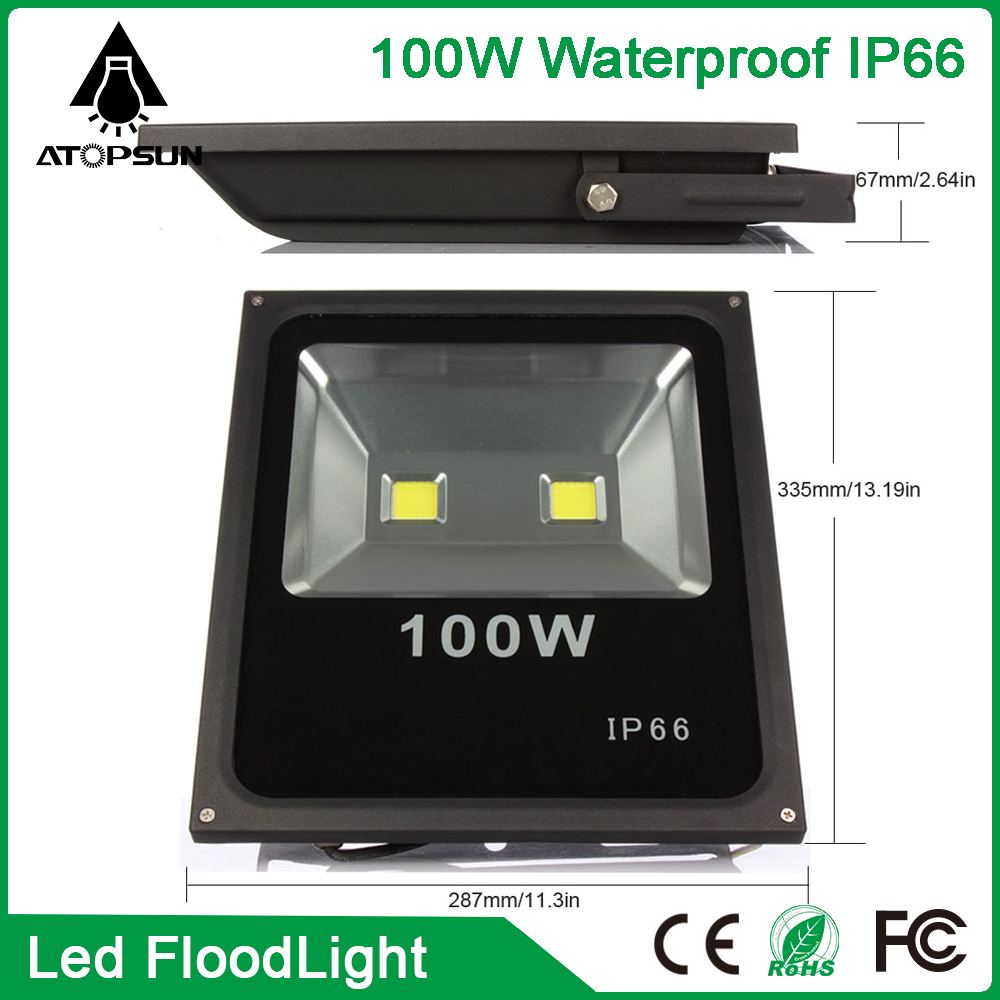 2016 LED Floodlight 100W  led spotlight  Warm/Cool White AC85-265V refletor led for Outdoor lighting light Garden Lamp ultrathin led flood light 100w led floodlight ip65 waterproof ac85v 265v warm cold white led spotlight outdoor lighting