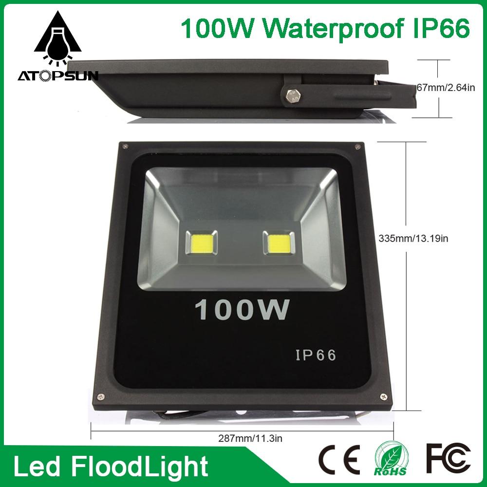 2016 LED Floodlight 100W  led spotlight  Warm/Cool White AC85-265V refletor led for Outdoor lighting light Garden Lamp  winsune 2 100w cool white