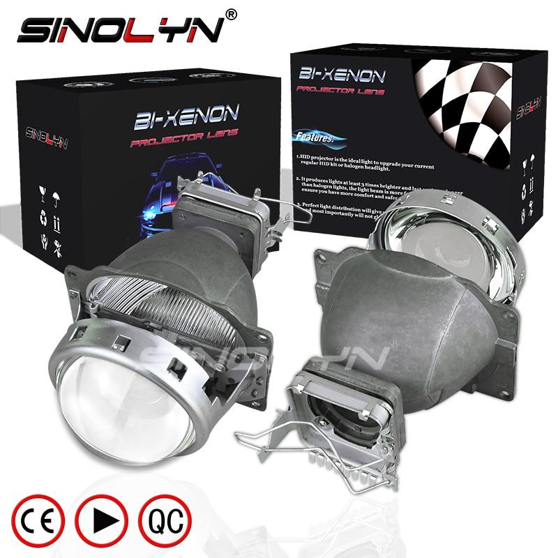 SINOLYN HID Bi xenon 3.0 pouces projecteur lentille phare Kit de lentilles de modification, utiliser D1S D2S D2H D3S D4S ampoules voiture style phareSINOLYN HID Bi xenon 3.0 pouces projecteur lentille phare Kit de lentilles de modification, utiliser D1S D2S D2H D3S D4S ampoules voiture style phare