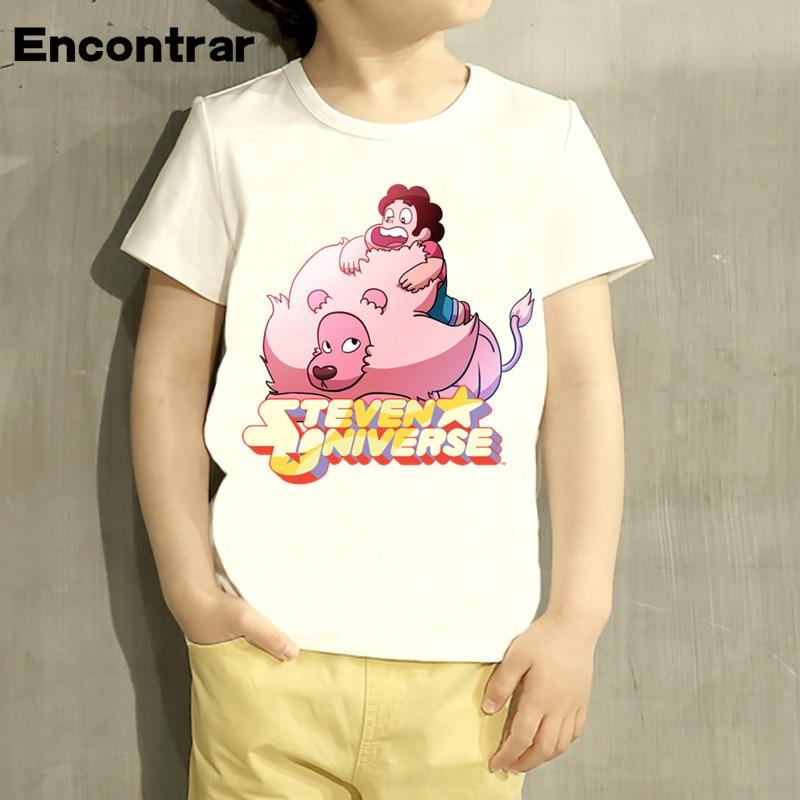 kids Steven Universe Logo Design TShirt Boys/Girls Great Casual Short Sleeve Tops Children Cute T-Shirt,HKP5053