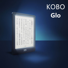 Construido en la luz original kobo glo e-libro lector de tinta electrónica de 6 pulgadas 1024×768 wifi de la pantalla táctil 2 gb ereader, no Glo HD