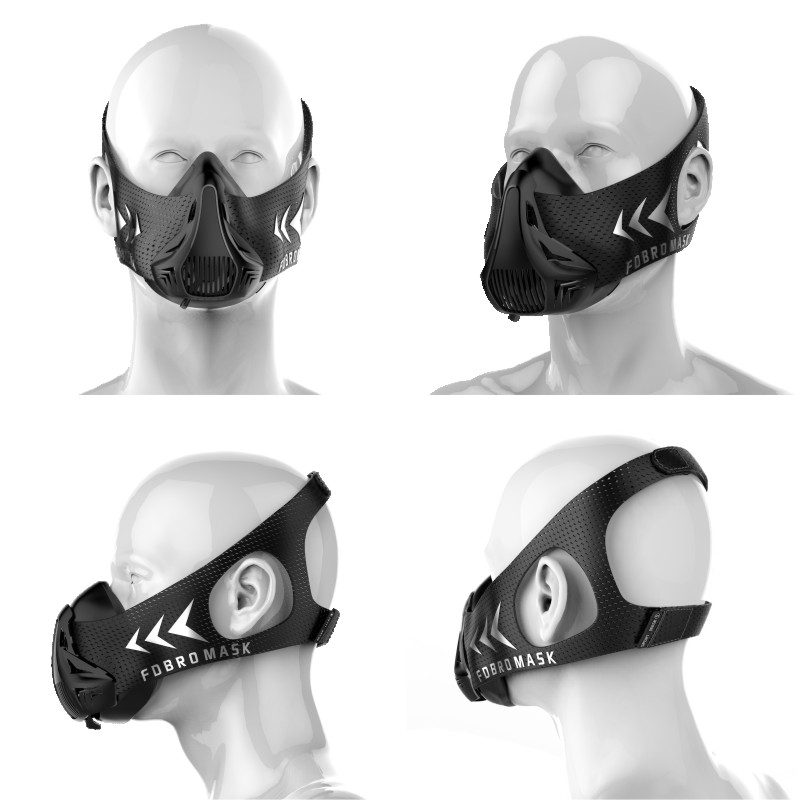 NEW FDBRO sport mask  packing style black High Altitude training Conditioning sport mask 3.0 with box FREE SHIPPING phantom sport mask s m l sizes 5 different colors for choose training sport mask unisex use mask free shipping