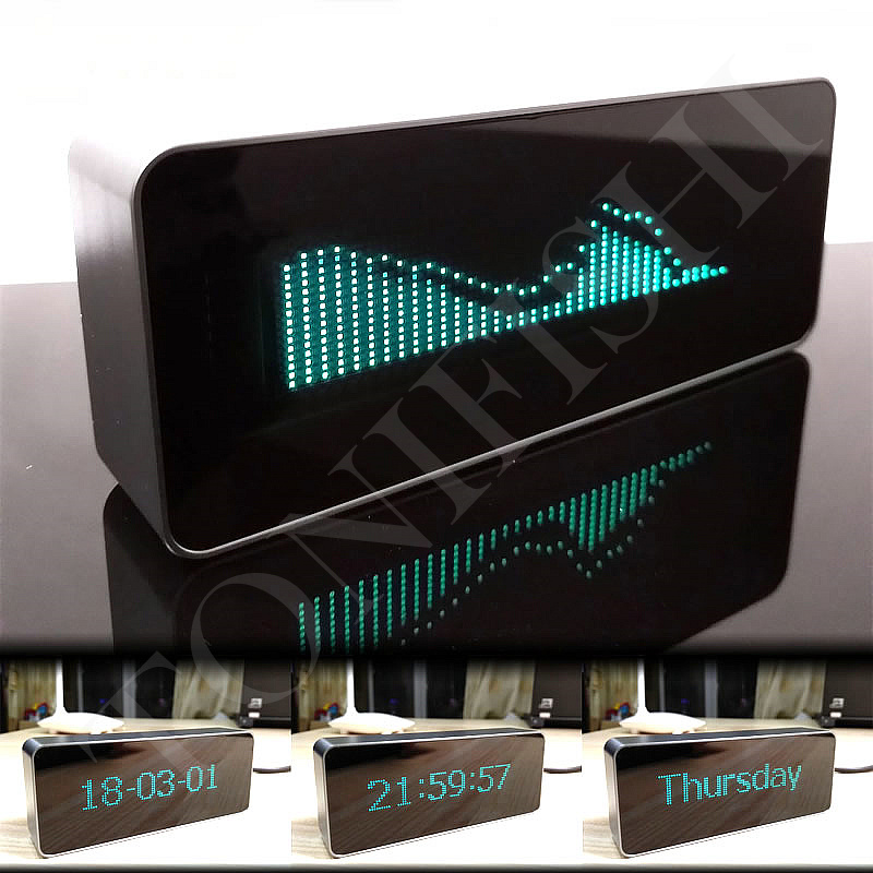 VFD fluorescent screen 71 stage 15 level music spectrum level indicator lamp digital clock finished