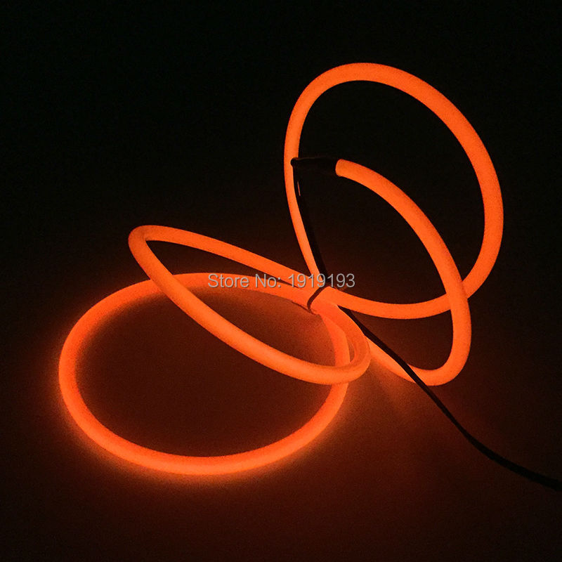 10 colors Choice 1M/2M/3Me/4M/5M/10M EL Wire Tube Rope 5.0mm Battery Powered Flexible Neon LED Strip Party Wedding Decoration