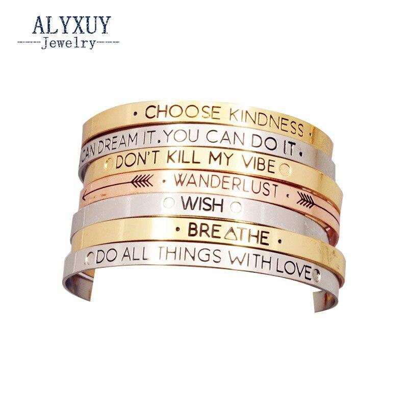 Fashion accessories jewelry Iron letter brave wish mix design cuff bangle lovers gift B3416