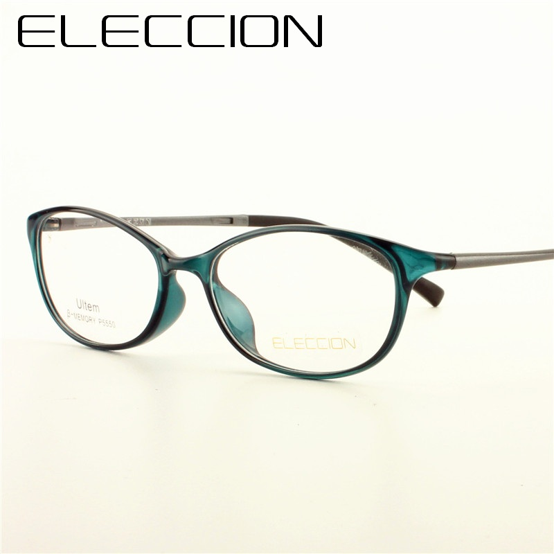 92a5c51c12 ELECCION Fashion Cat eye Style High Quality ULTEM Spectacle Frames for Women  Myopia Prescription Eyeglasses Female Glasses 5550 -in Eyewear Frames from  ...