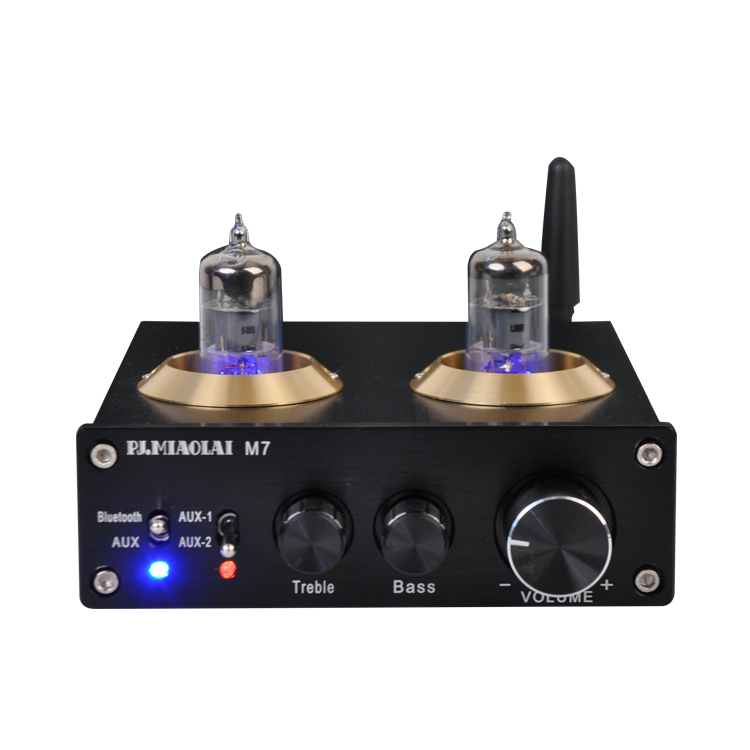 brings you real natural / nostalgic sound Bluetooth tube preamplifier band audio ESS9023 ...