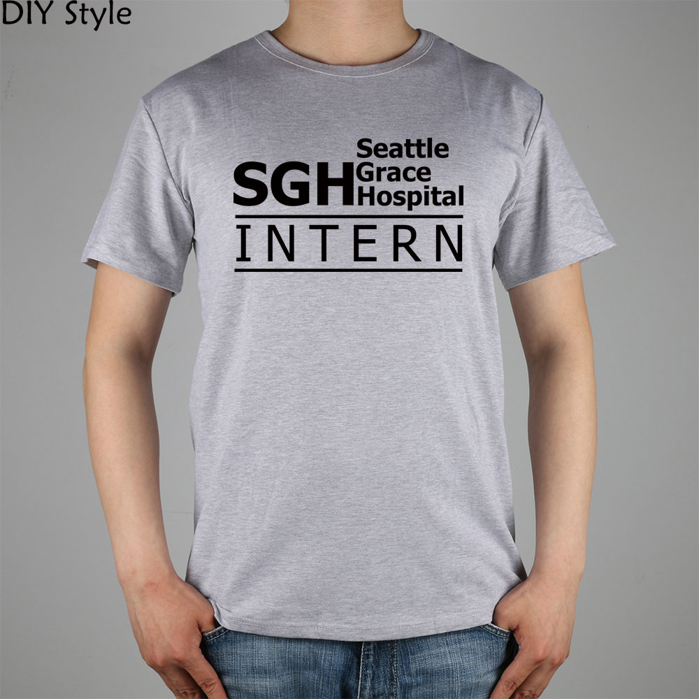 ᑎ‰Anatomía de grey SGH Seattle Grace Hospital Intern camiseta Top ...