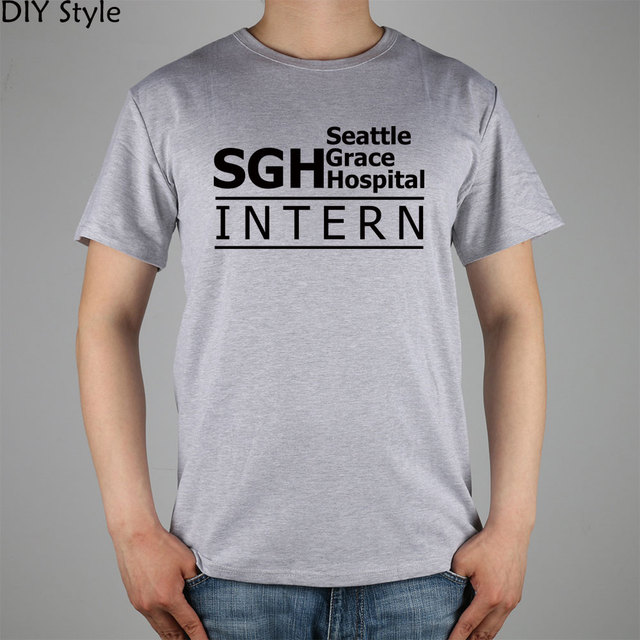 Anatomía de grey SGH Seattle Grace Hospital Intern camiseta Top ...