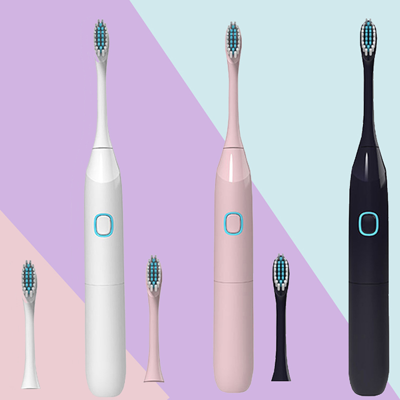 3 Colors Optional  Electric Acoustic Wave Toothbrush Sonic Waterproof Whitening Soft Hair Vibration Adult Electric Toothbrush