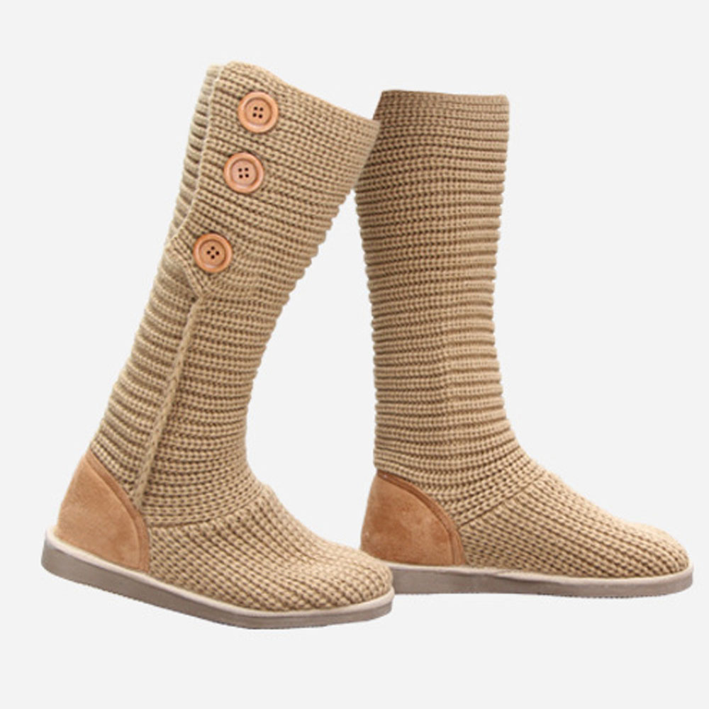 a5a09a676bf Fashion New 2015 Women Snow Boot Warm Winter Shoes Ladies High Boot Woolen  Weave Woman Slip Resistant Winter Shoes LP062-in Over-the-Knee Boots from  Shoes ...