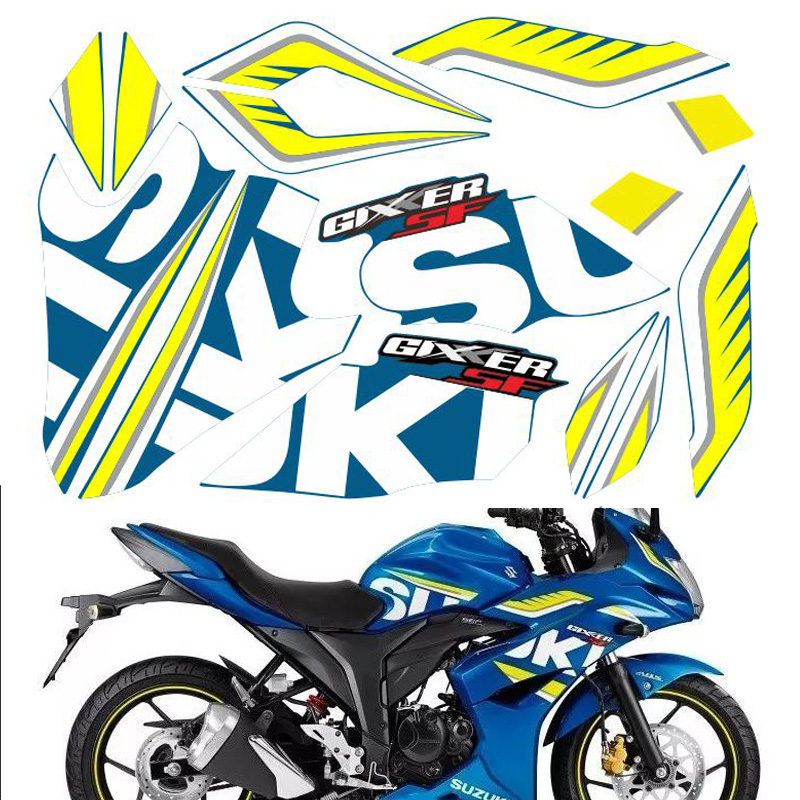 FASP GIXXER  GSX150F SF150full Sticker Motorcycle Decal Modified Vehicle Decorate  Protect High Quality PVC Stickers