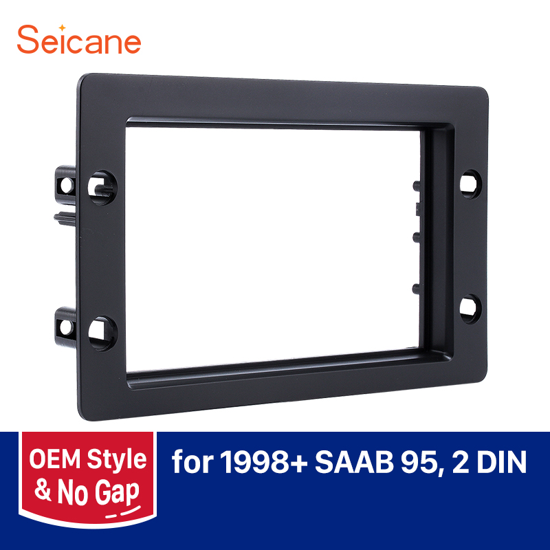 Seicane Double Din Car Stereo Fascia for 1998+ SAAB 95 Dashboard CD DVD GPS Fitting Adaptor Radio Frame|Fascias| |  - title=
